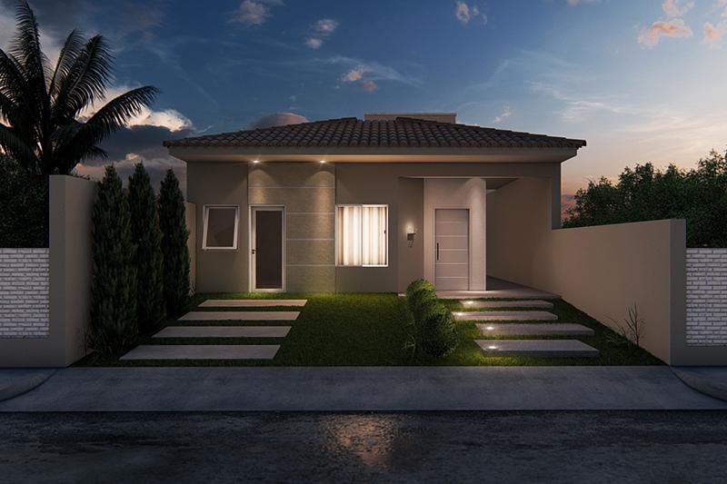 Planta de casa com suite e closet projetos de casas for Fachadas casa modernas pequenas