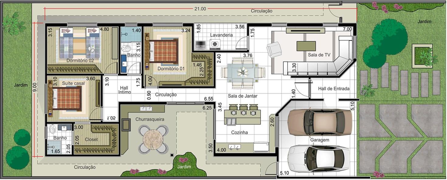Projeto arquitetônico centro cultural e assistencia social 10