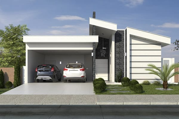 Planta de casa t rrea com rea gourmet projetos de casas for Casa moderna 90m2
