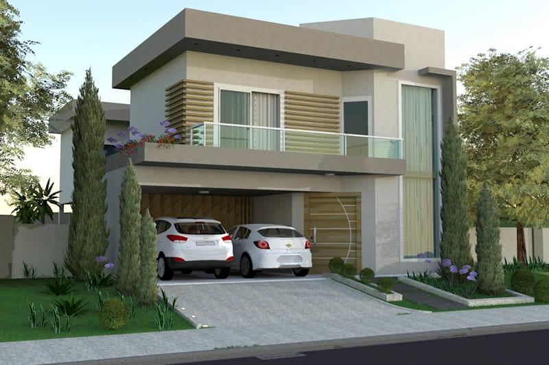 Casas Com Telhado Embutido