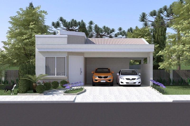 Planta de casa t rrea contempor nea projetos de casas for Case moderne e contemporanee