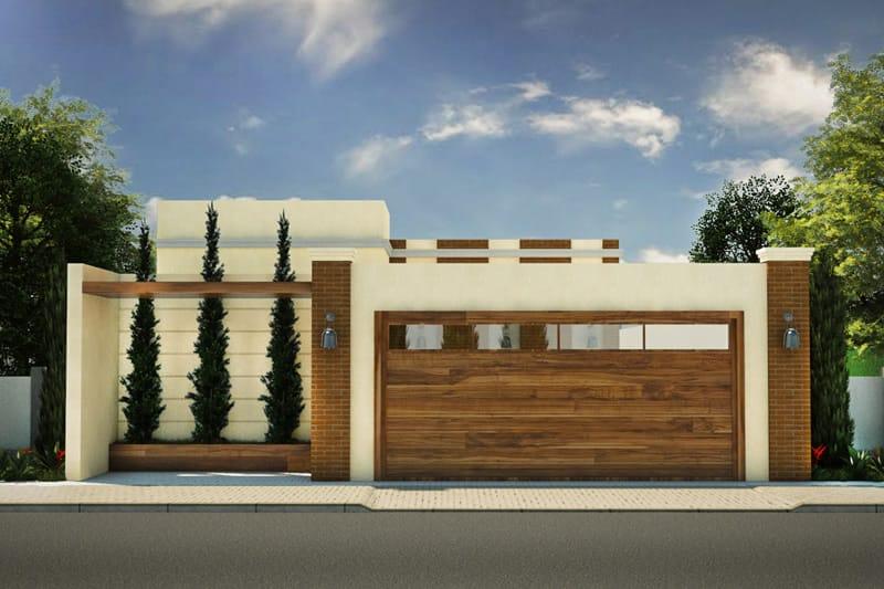 Planta de casa com port o de madeira projetos de casas for Modelo de casa x dentro