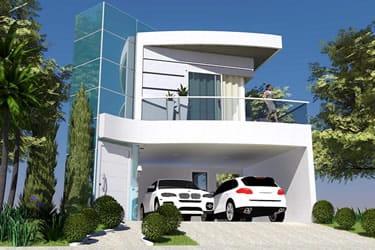 Casa com jardim suspenso