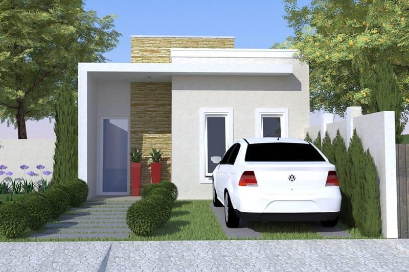 Planta de casa simples e moderna projetos de casas for Modelo de casa x dentro