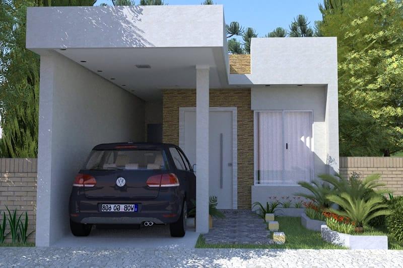 Fachada de casa pequena para condomínio