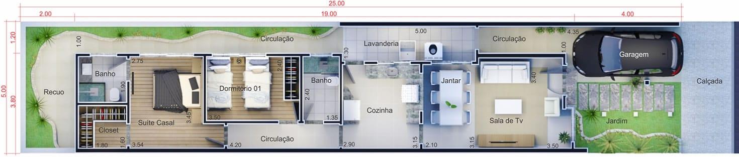 Planta de casa pequena projetos de casas modelos de for Planos de casas 5x25
