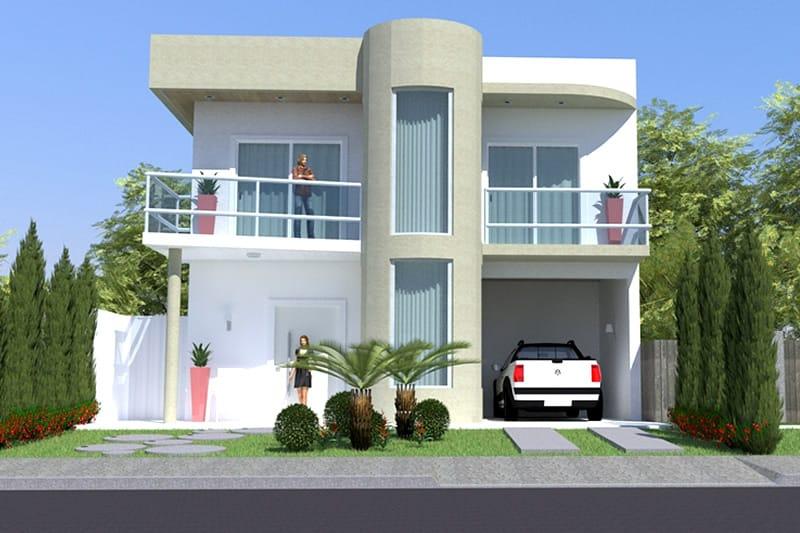 Custo de obra planta de sobrado contempor neo custo de for Casa minimalista 300m2