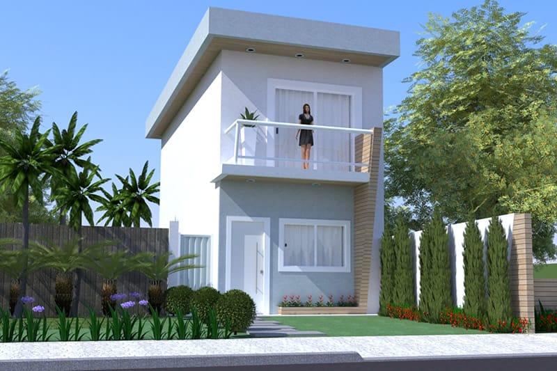 Planta de sobrado pequeno projetos de casas modelos de for Cuanto cuesta hacer una alberca en mexico