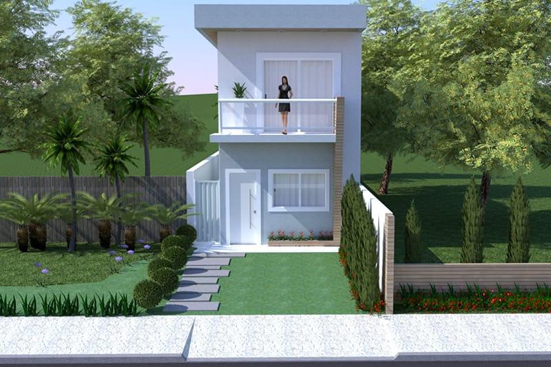 Planta De Sobrado Pequeno Projetos De Casas Modelos De