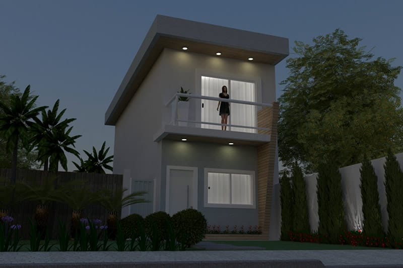 Planta de sobrado pequeno projetos de casas modelos de for Modelo de casa 7 x 10