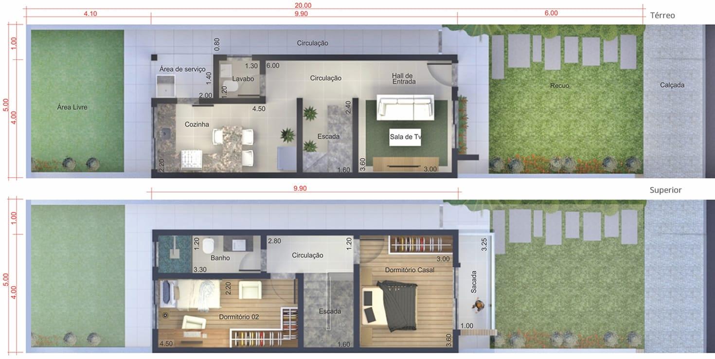 Planta De Sobrado Pequeno Projetos De Casas Modelos De Casas E