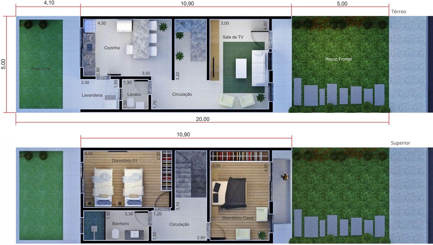 Planta de sobrado simples Projetos de Casas Modelos de Casas e  #405A8B 1470 798