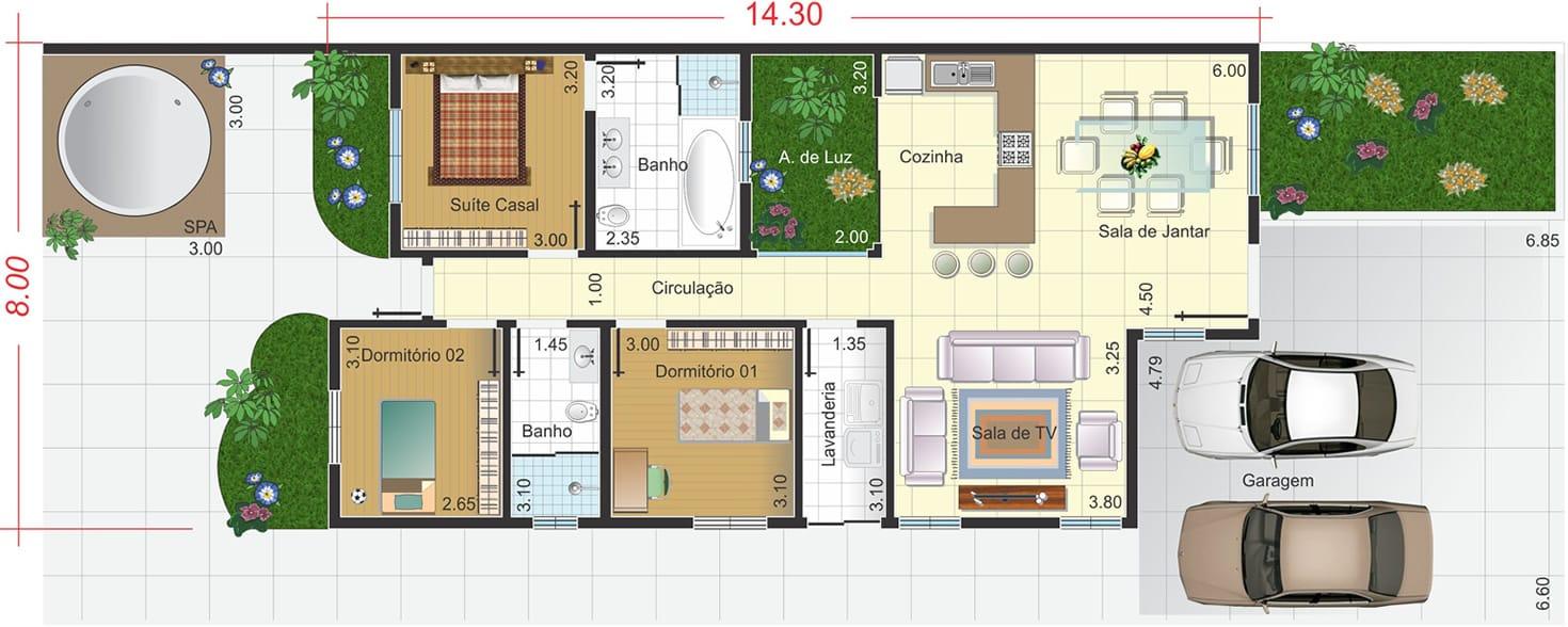 ... ampla - Projetos de Casas, Modelos de Casas e Fachadas de Casas