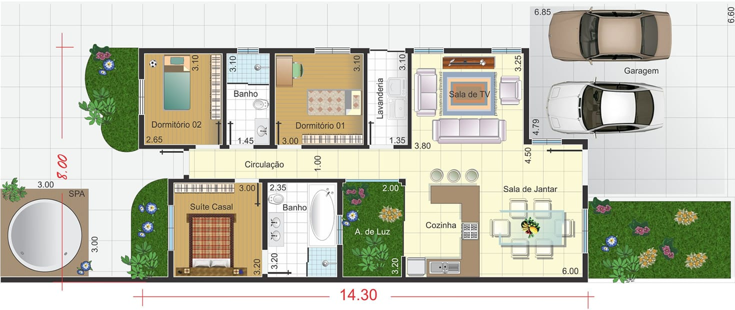 De Casas Modelos Projetos Planta Baixa 1 300×300 Plantas De Casas