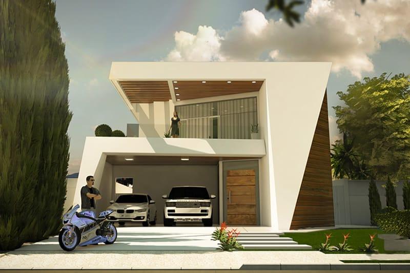 Projeto de sobrado com design inovador - Projetos de Casas ...