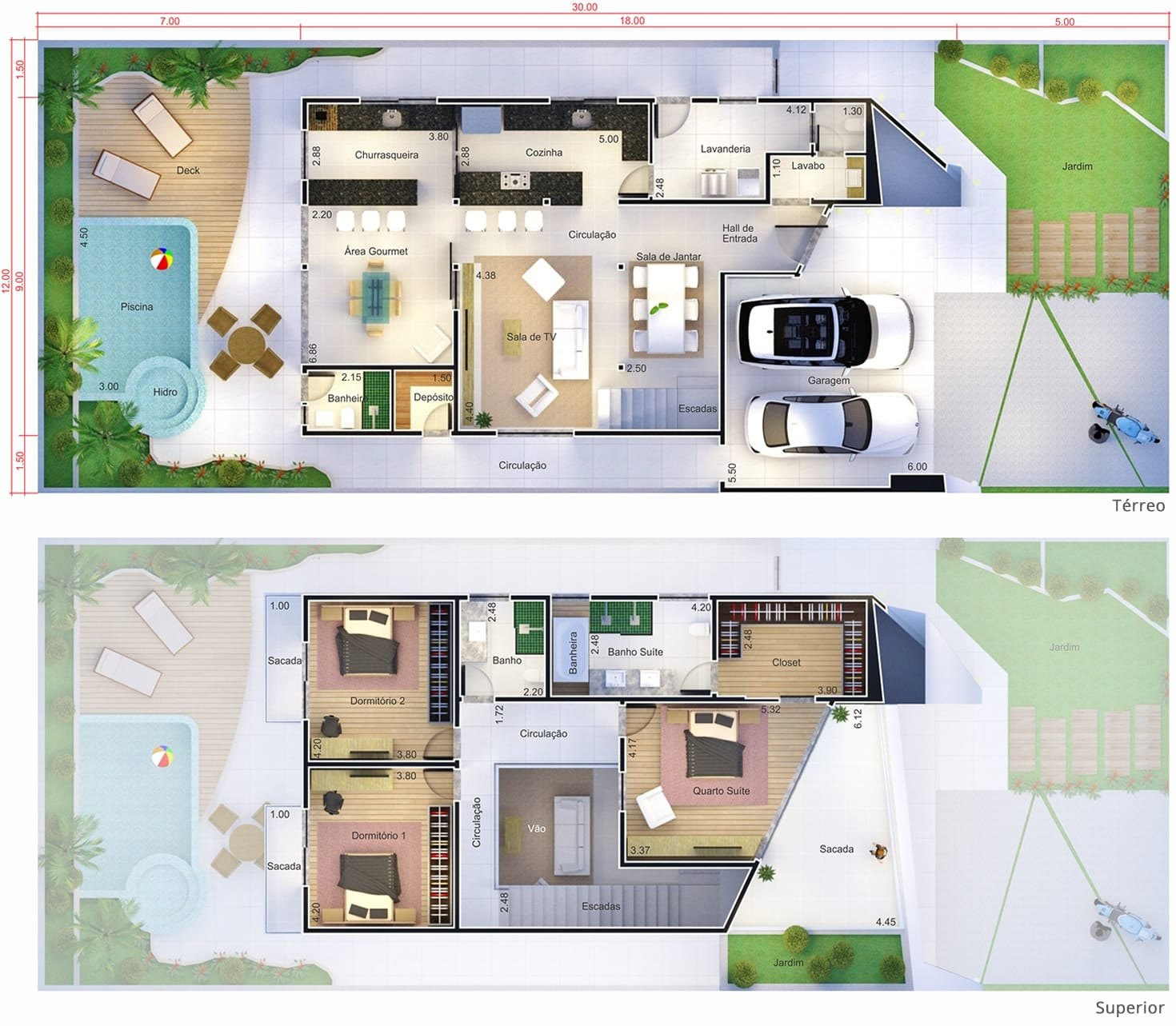 Projeto de sobrado com design inovador Projetos de Casas Modelos de  #416C33 1470x1283 Banheiro Adaptado Autocad