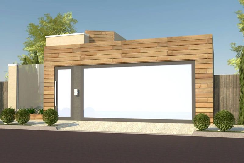 Planta de casa com fachada de madeira projetos de casas modelos de casas e fachadas de casas - Fachada de casas ...