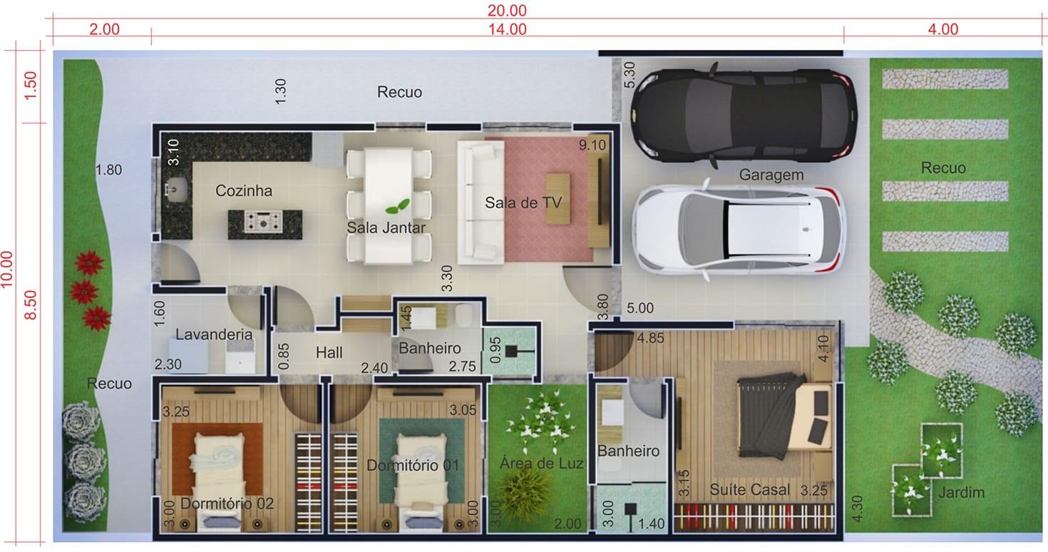 Casa para terreno de 10 por 20 metros projetos de casas modelos de casas e fachadas de casas - Casa con terreno ...