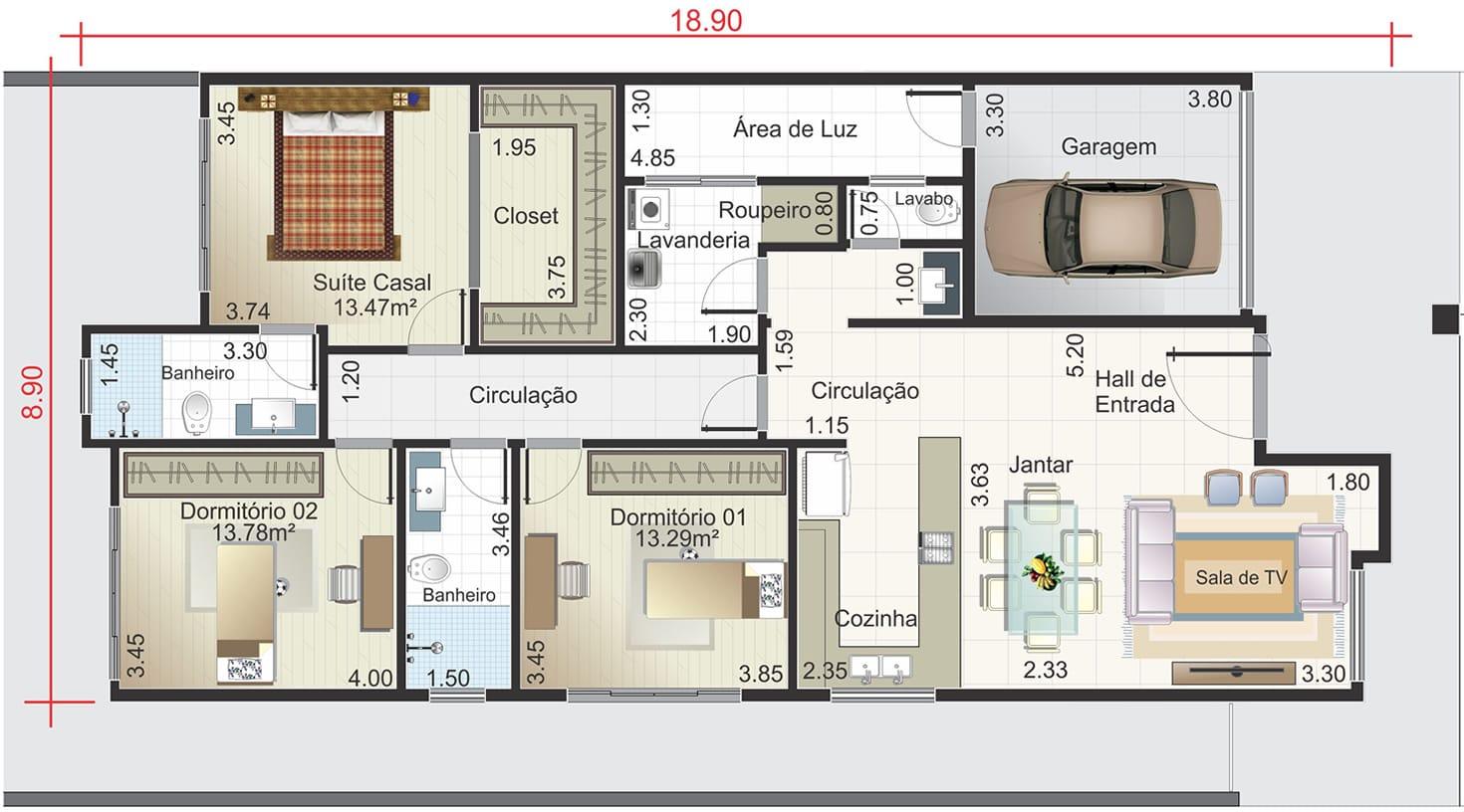 Casa térrea com fachada de pedra Projetos de Casas Modelos de  #8E583D 1470 816