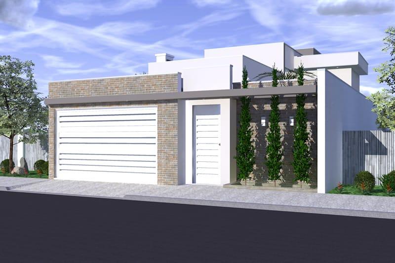 Planta de sobrado com quarto embaixo projetos de casas for Casa moderna 7x20