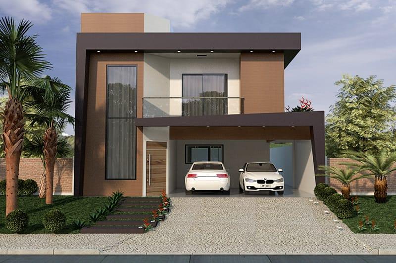 Planta de sobrado com varanda projetos de casas modelos for Casa moderna 7x20