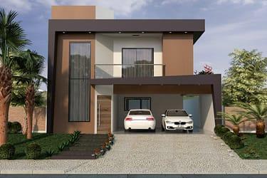 Casa com fachada contemporâneo