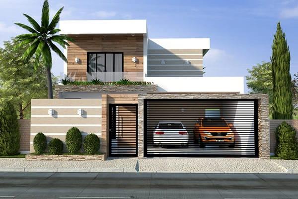 Planta de sobrado com telhado embutido projetos de casas for Casa moderna 7x20