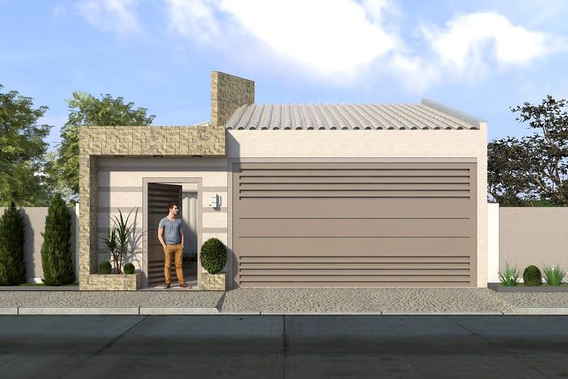 Planta de casa popular projetos de casas modelos de for Modelo de fachada de casa