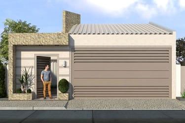 Casa com telhado colonial