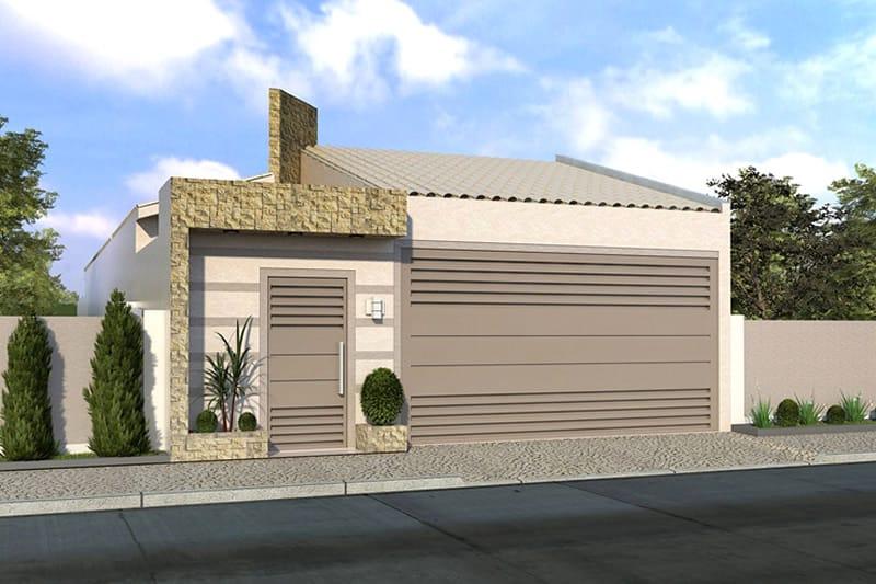 Casa com tijolinho e portão