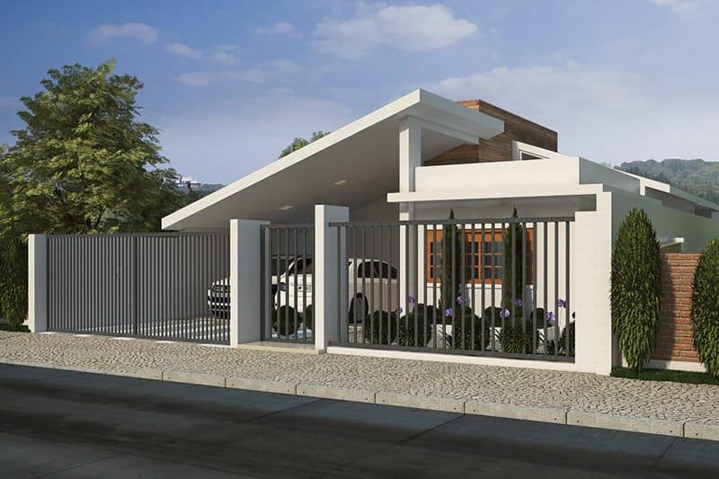 Casa térrea com garagem para dois carros
