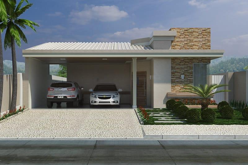 Planta De Casa Com Telhado Aparente Projetos De Casas