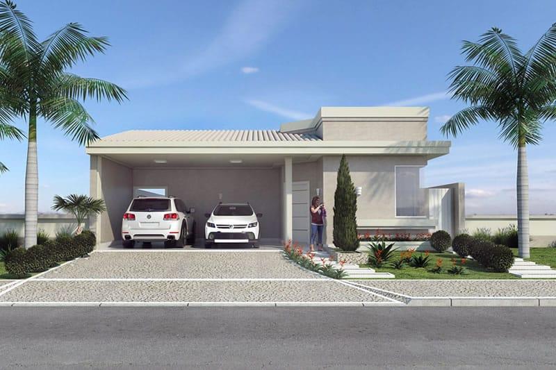 Planta de casa t rrea com churrasqueira projetos de for Modelos de casa estilo minimalista