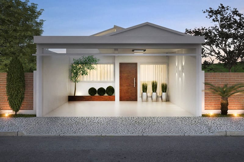 Planta de casa pequena e moderna projetos de casas for Casas pequenas modernas