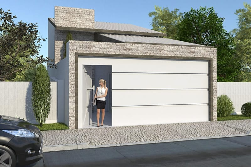 Modelo de casa sem piscina