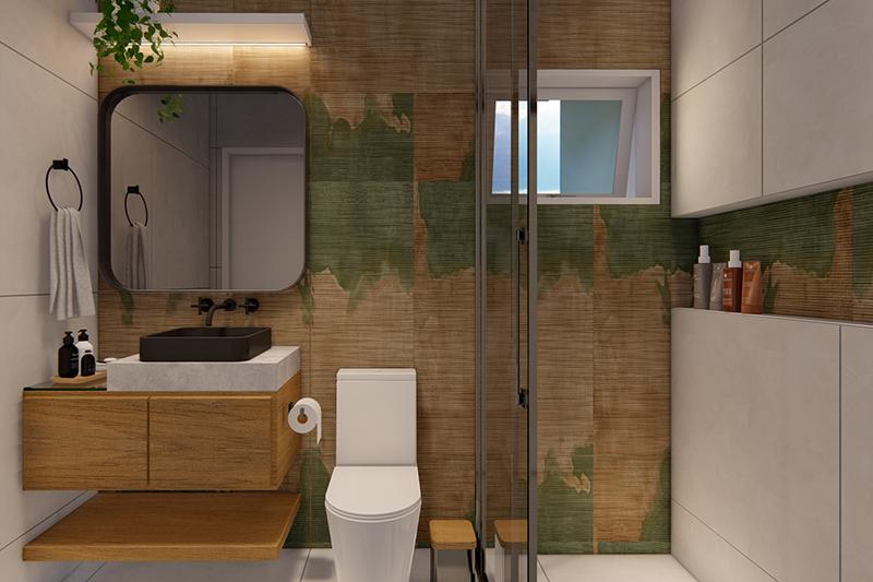 Área gourmet com lavanderia