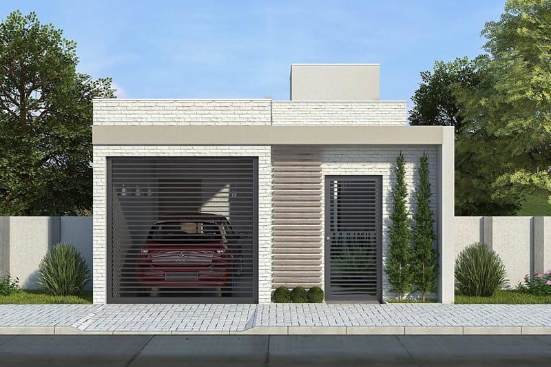 Planta de casa com 2 quartos projetos de casas modelos for Casa minimalista 2 dormitorios