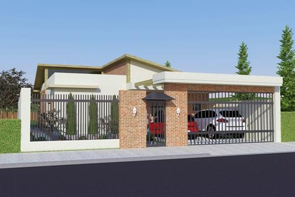 Planta de casa t rrea r stica projetos de casas modelos for Modelos de casas rusticas