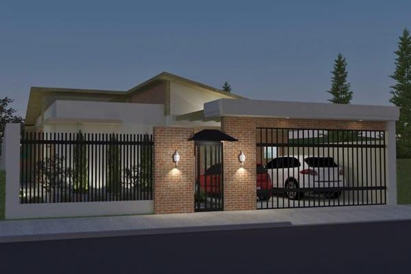 Planta de casa t rrea r stica projetos de casas modelos de casas e fachadas de casas - Casas de una planta rusticas ...
