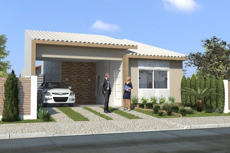 Casa simples com tijolo