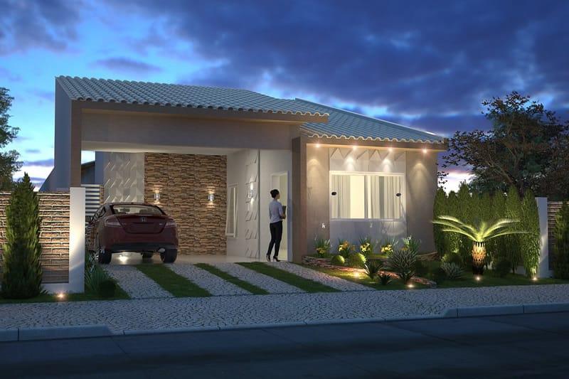 Planta de casa com jardim de inverno  Projetos de Casas, Modelos de