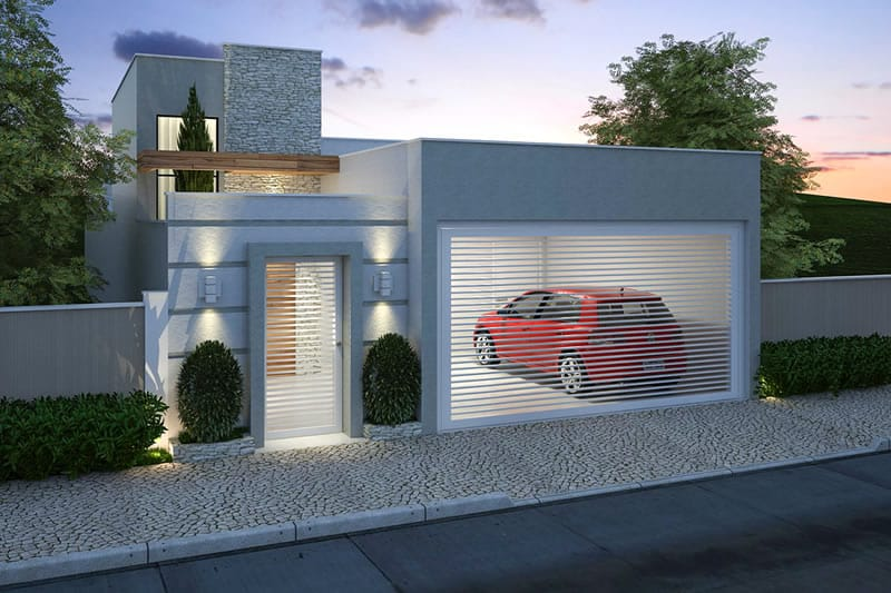 Planta de casa pequena com 3 quartos - Projetos de Casas, Modelos de