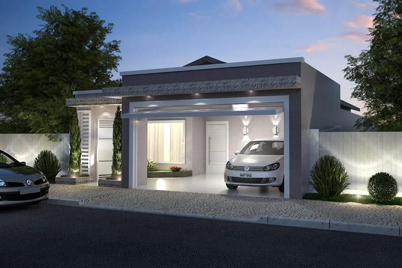 Planta de casa com cozinha na frente projetos de casas for Ver frentes de casas
