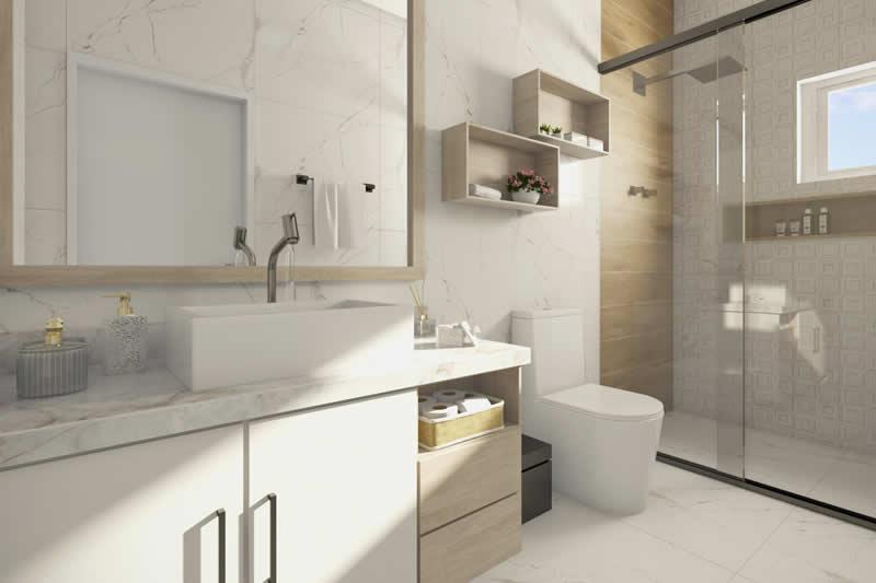Banheiro neutro para casa