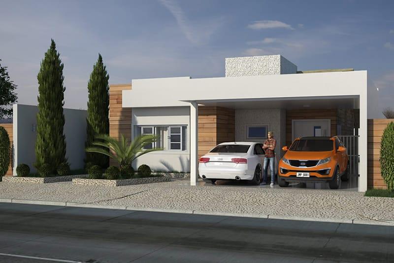 Casa com vaga para dois carros