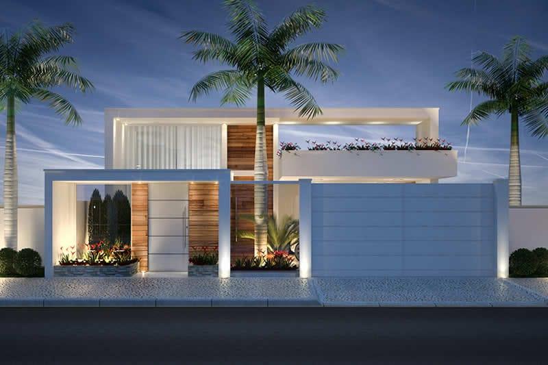 Fachada de casa luxo