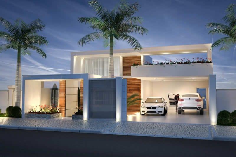 Planta de casa t rrea com 3 su tes projetos de casas for Case con 2 master suite