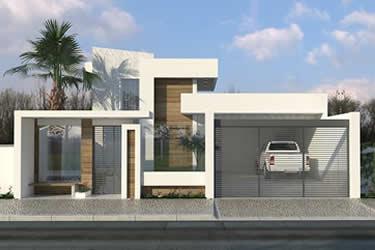 Casa com design moderno