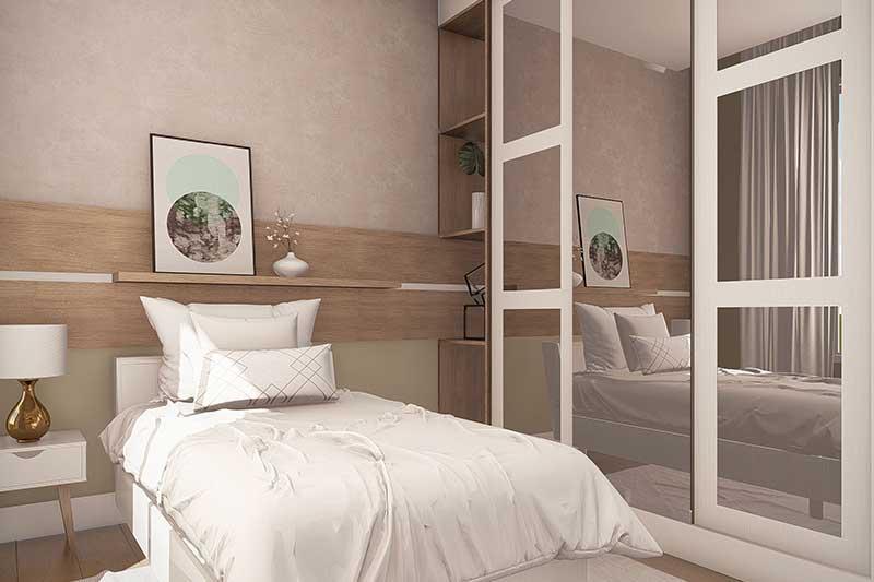 Dormitório de solteiro para jovens