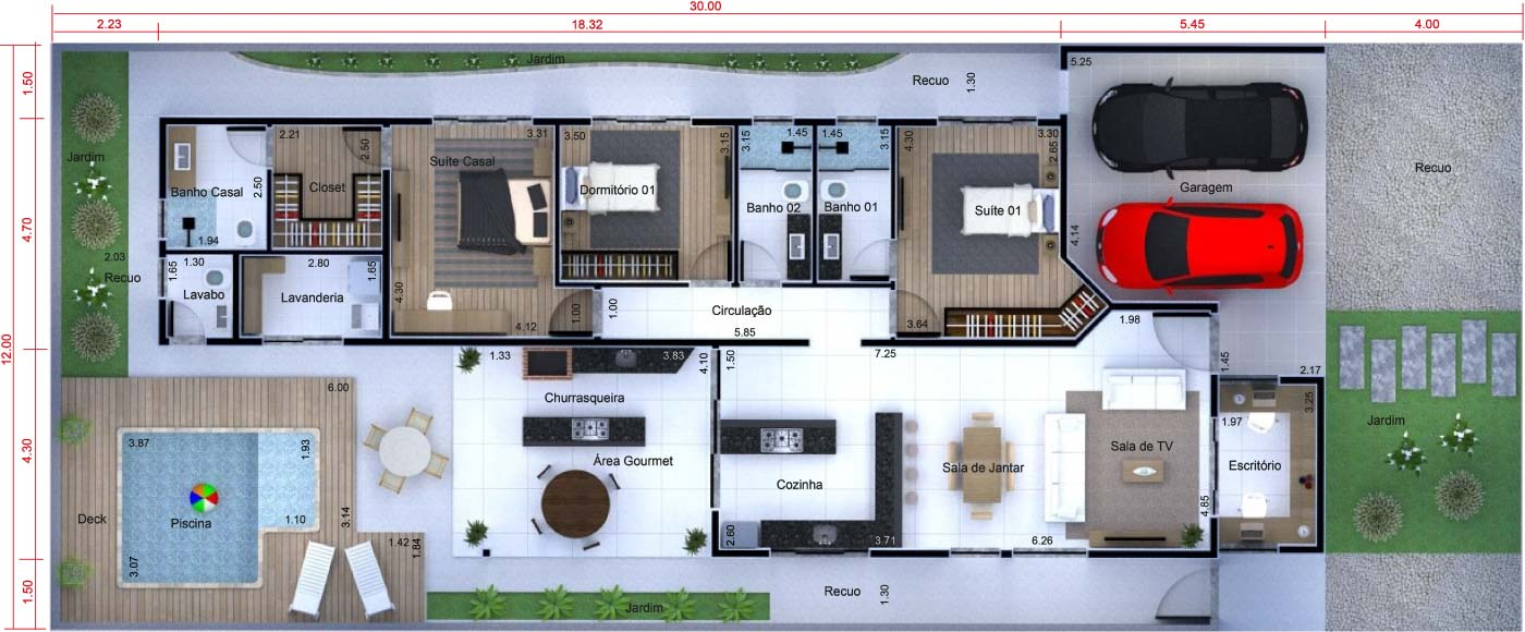 Planta De Casa T Rrea Com Escrit Rio Projetos De Casas Modelos De
